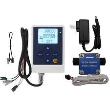 "G1/2"" Oil Fuel Gasoline Diesel Milk Gear Flow Sensor Meter+ Flowmeter Controller"