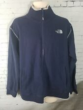 North Face Mens Navy XL Cotton Blend Full Zip Jacket
