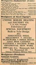 1946 Cn Nau United Boiler Heating Foundry Co Lake Ave Hammond Chicago Ad