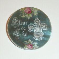 """Fleur de lis - France - Flowers MOP Button - Mother of Pearl Shank Button 1+3/8"""""""