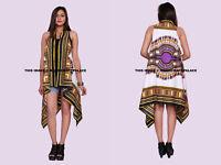 Femme Dashiki Étole Hippie Boho Caftan Manche Kimono Cocktail Soirée Robe
