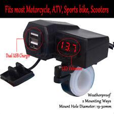 Dual USB Charger LED Voltmeter For Kawasaki Vulcan VN 500 750 800 900 1700 2000