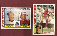 1984 TOPPS BASEBALL #560 + All Star Card ~ CARLTON FISK Chicago White Sox