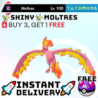 ✨SHINY✨6IV kanto MOLTRES battleready pokemon sword shield 🚀Instant Delivery🚀