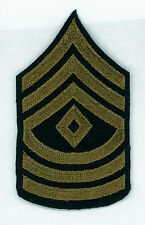 CIRCA 1930's - WWII, ARMY, FIRST SERGEANT, CHEVRON, ON WOOL, VARIATION
