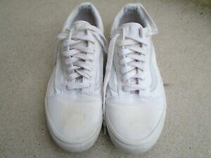 VANS OFF THE WALL OLD SKOOL WHITE WHITE SNEAKERS SHOES MEN sz 11