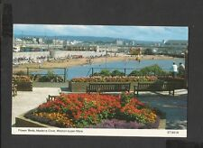 Bamforth Colour Postcard flower beds-Madeira cove Western-Super-Mare-Somerset