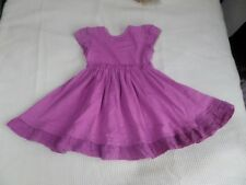 Nutmeg Girls Purple Cap Sleeve 100% Cotton Dress Size 12-18 Months