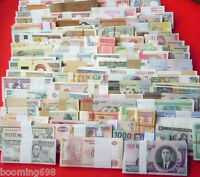 World paper money; lot of 100 well mixed circulated- uncirculated