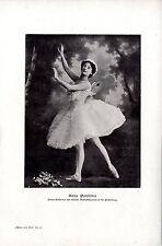 Anna Pawlowa Prima- Ballerina des Kaiserl. Marientheaters in St. Petersburg 1909