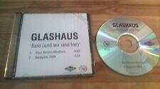 CD Hiphop Glashaus - Bald (und wir sind frei) (2 Song) Promo MERCURY sc