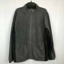 Harley-Davidson gray fleece Zip Up Jacket Size Large