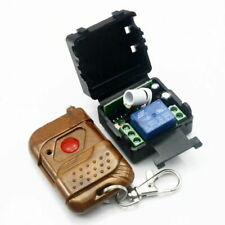 US DC 12v 10A relay 1CH wireless RF Remote Control Switch Transmitter+ Receiver