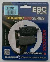 EBC Organic FRONT Disc Brake Pads (SFA169) Fits PEUGEOT V CLIC 50 (2008 to 2013)
