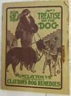 Antique G.W. Clayton's A Treatise On The Dog ILLUSTRATED Veterinary Booklet
