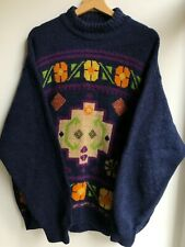 Vintage 90's United Colors of Benetton Pullover Sweater Jumper Wool Mens L Blue