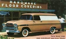 Old Print. Brown 1959 Chevrolet Panel Truck Advertisement