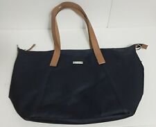 StorkSak Large Size Blue Coated Canvas Multinpocket Diaper Bag