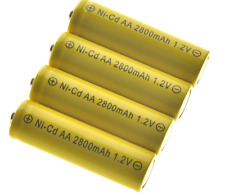 4 x AA 1.2v 2800mah NiCD Rechargeable Solar Light Batteries - latest type