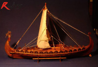 wooden scale sailing boat wood scale ship Viking ships model kit for adults NEW