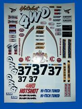 HOT SHOT 1 CUSTOM TAMIYA HPI LOSI RC 1/10th PLUS EXTRA DECALS STICKERS