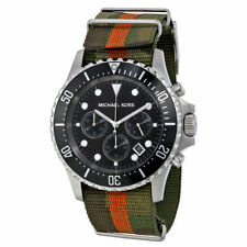 OROLOGIO MICHAEL KORS EVEREST CHRONO GREEN/ORANGE MK8399 - NEW (LIST. € 249,00)