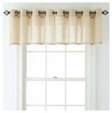 "JCPenney Home Bayview Grommet-Top Sheer Tailored Valance 50"" x 18"" Linen"