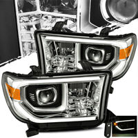 For 2007-2013 Toyota Tundra/2008-2013 Sequoia Chrome Projector Headlights LH/RH