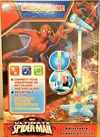 Spiderman Stand Music Microphone Musical Voice Tube Toy Sound Light Kid Gift AU