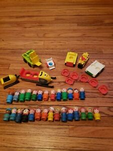 Lot of Vintage Fisher Price Little People Mini Snow Mobile 705 Vechicles People