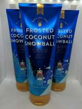3 Bath & Body Works Frosted Coconut Snowball Ultra Shea Cram Hand Lotion 8 Oz