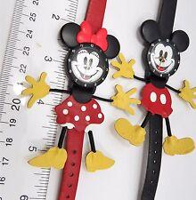 "MICKEY & MINNIE MOUSE,""3D Hands & Feet"",RARE SET! KIDS/ LADIES WATCH,R4-04,L@@K!"
