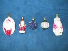 5-Old C6 Milk Glass Christmas Tree Light Bulbs..Non-Working...Nice Rare Variety!