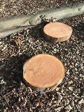"""2 12"""" Stepping Stones (corteccia incompleto) Rustico di Legno Log ideale per giardino"""