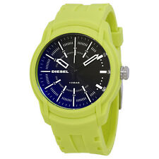Diesel Armbar Black Dial Mens Neon Green Watch DZ1821