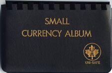 Uni-Safe 10 Pocket Vinyl Currency Album - Small