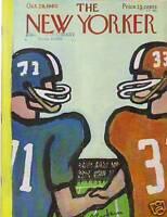 1960 New Yorker October 29 - Football Game Handshake