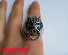Final Fantasy VII 7 Cloud Strife Wolf Head Ring Size 11 Perfect Gift