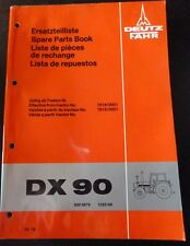 Deutz Fahr Schlepper DX90 Ersatzteil-Katalog