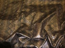 "54"" Wide Faux Python Snake Skin Leather Bronze Fabric By The yard"