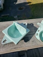 Vintage Porcelain over Cast Iron 2 piece bathroom Turquoise preowned fixtures