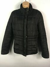 WOMENS HOBBS BLACK ZIP UP QUILTED LIGHTLY PADDED FITTED WINTER JACKET COAT UK 12