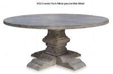 KOLO, Esstisch Altholz grau rund, Massivholztisch, Säulentisch bei Matz Möbel