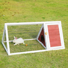 Wooden Chicken Rabbit Coop Triangle Hutch Pet Cage Small Animal Poultry Cage Run
