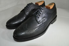 Sandro Wingtip Black Leather Oxfords Longwing New w/o Box 44 Men 10 to 10.5 M