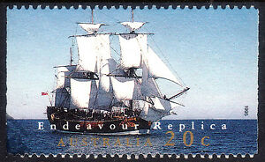Endeavour Replica 20c 1995 booklet stamp. Not easy to get.  VFU   • FREE POST •