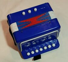 Junior Accordion Child's Musical Instrument  Discovery Blue White