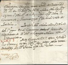 G)1617 PERU, CAYAN RED MARK, COLONIAL MAIL, CIRCULATED COMPLETE LETTER, XF