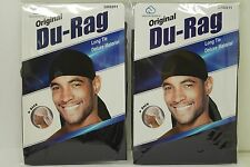 2 PCS Brand New Black Sports Regular Durag Biker Head Wrap KT17