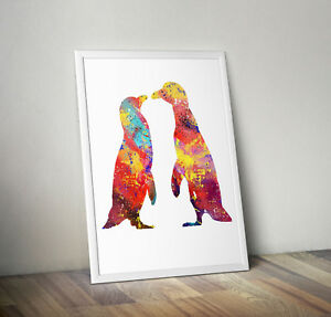 Penguin, print, poster, animal, picture, gift, wall art, home decor, nursery